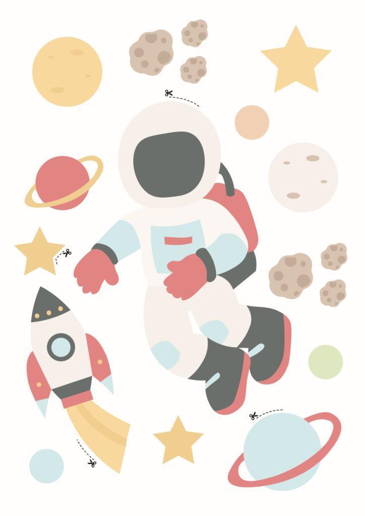 Westwing Astronaut zum Schultüte Basteln