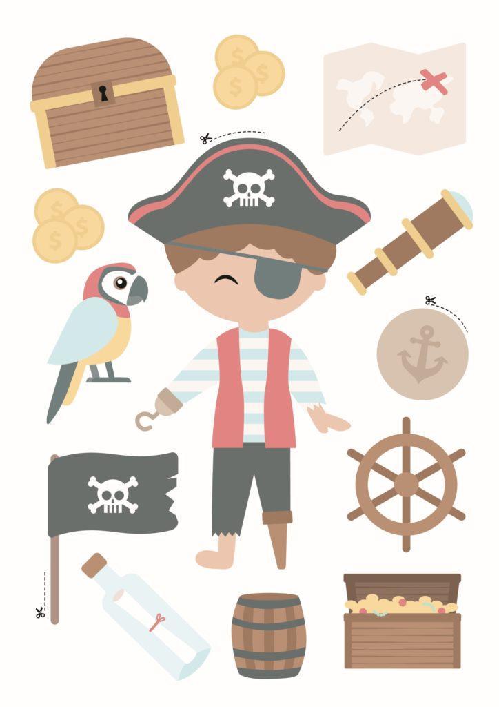 Westwing Pirat zum Schultüte Basteln