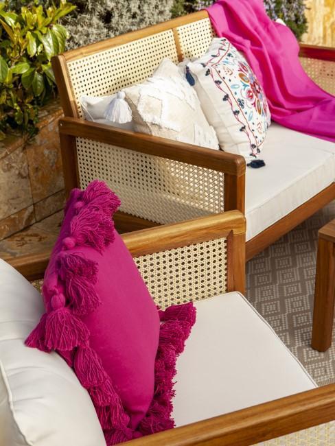 Pink als Akzentfarbe für den Outdoor-Bereich