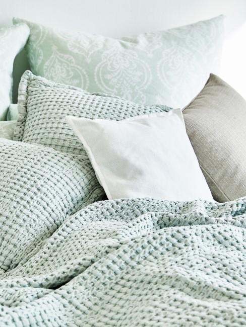 Zartes Mintgrün als Bettwäsche