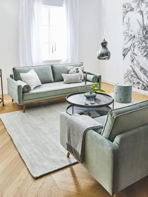 Farbe Mint fürs Wohnzimmer