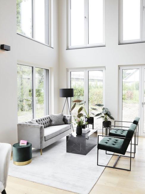Modern Wohnen mit hohen Decken
