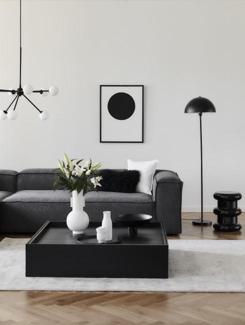 Modern Wohnen mit dunklen Möbeln