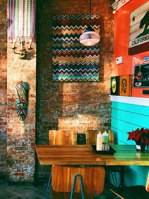 Wanddeko im mexikanischen Stil