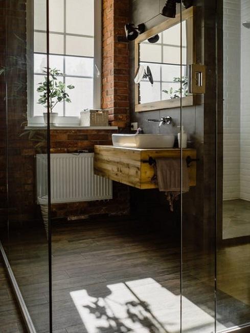 Badezimmer im rustikalen Look