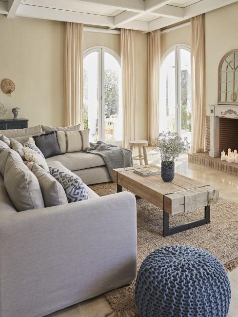 Mediterranes Wohnzimmer im Finca Style