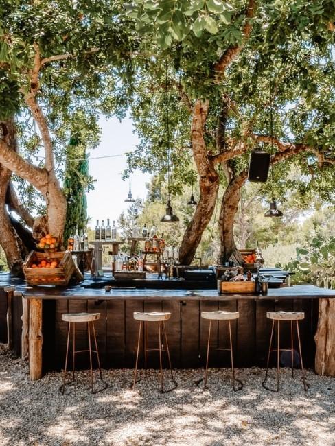 Outdoor Bereich im mediterranen Stil