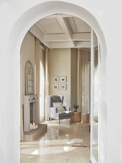 Wohnzimmer in mediterranem Style