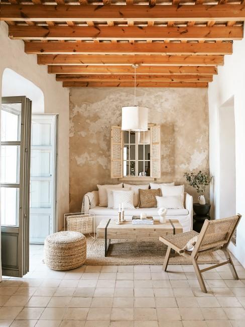 Mediterrane Möbel im Wohnzimmer