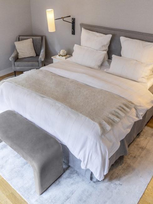 Graues Schlafzimmer als Trendfarbe