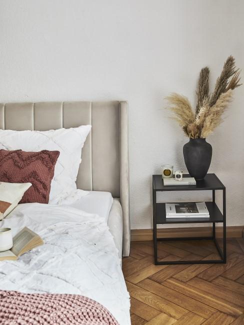 Erdfarben und Materialien im Schlafzimmer