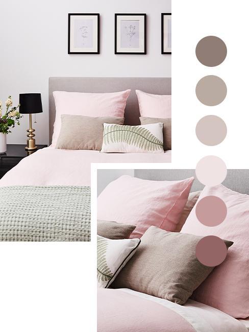 Taupe Farbpalette mit Rosa und Pastell