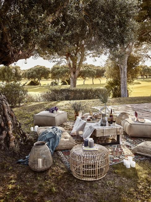 Outdoor Bereich im marokkanischen Style