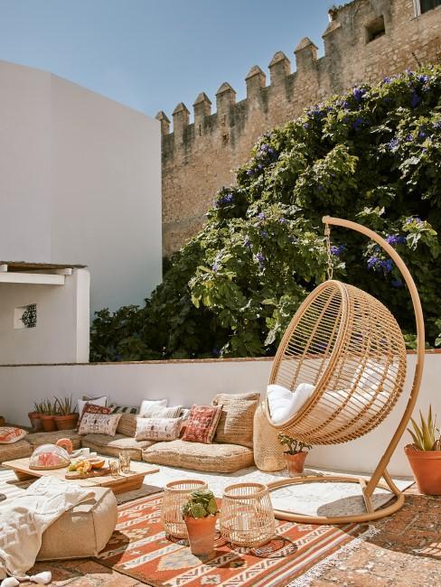 Dachterrasse mit marokkanischer Einrichtung
