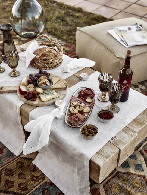 Orientalische Tischdeko