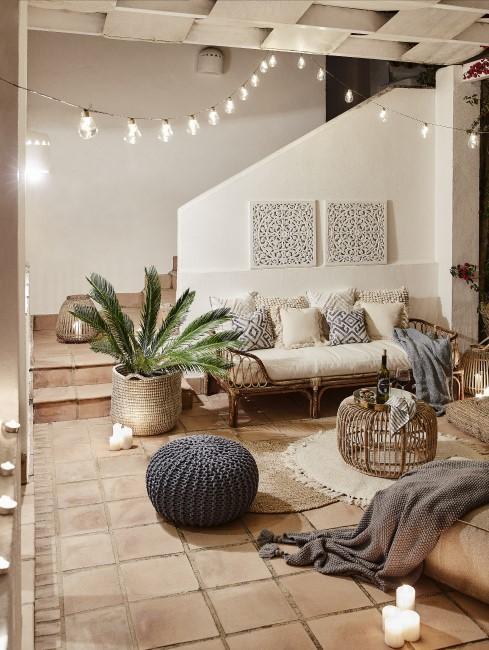 Orientalische Einrichtung im Wohnbereich