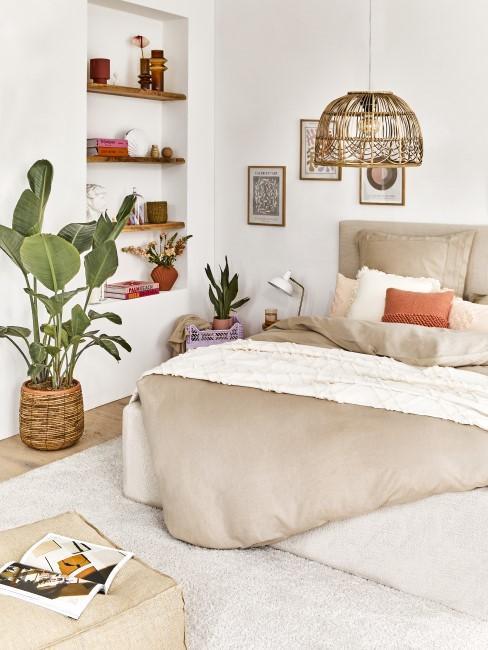 Schlafzimmer mit Boho Elementen