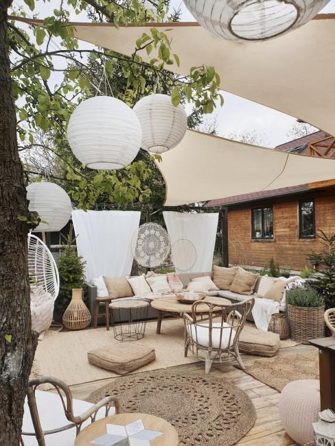 Boho Style für die große Terrasse