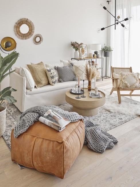 Wohnzimmer im trendigen Boho Style