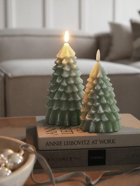 Weihnachtliche Deko in der Trendfarbe 2021 Grün