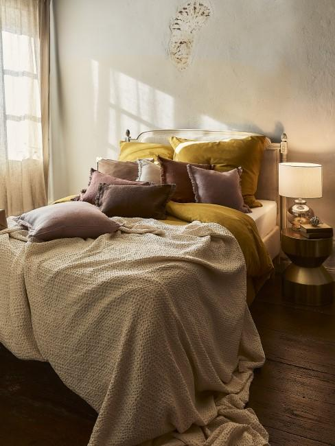 Ocker, Braun und Beige für Bettwäsche