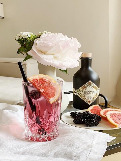 Gin mit Hibiskusgeschmack