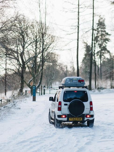 Fahrzeug fürs Wintercamping