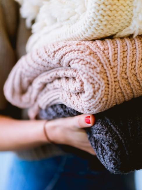 Wolldecken als Equipment fürs Wintercamping