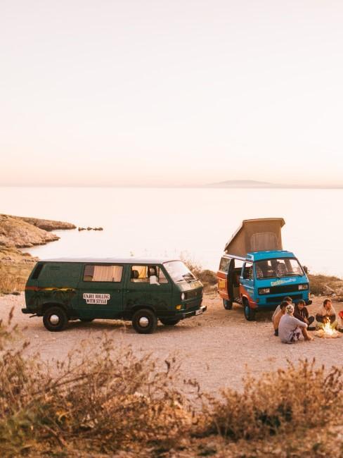 VW Busse am Meer