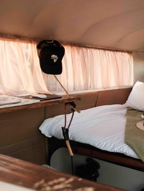Beispiel für Camper Ausbau mit Bett