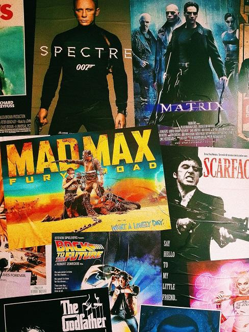 Verschieden Filmplakate von berühmten Filmen