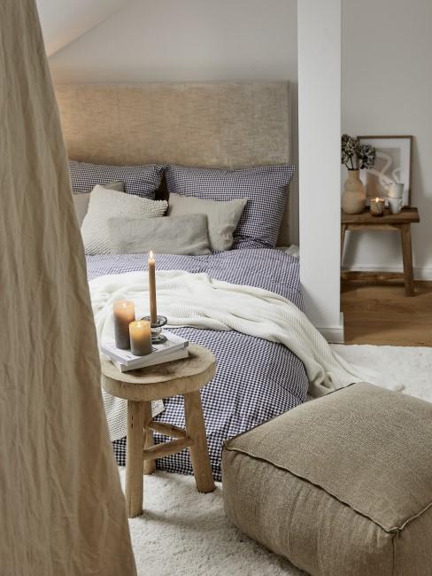 Schlafzimmer in Sandfarben