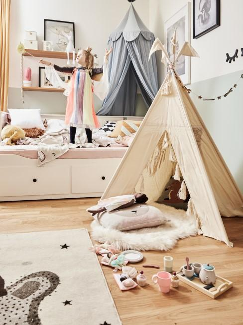 Kinderzimmer in ruhigen Farbtönen