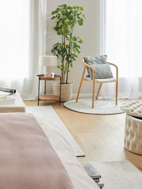 Ruhiges Schlafzimmer in Naturtönen