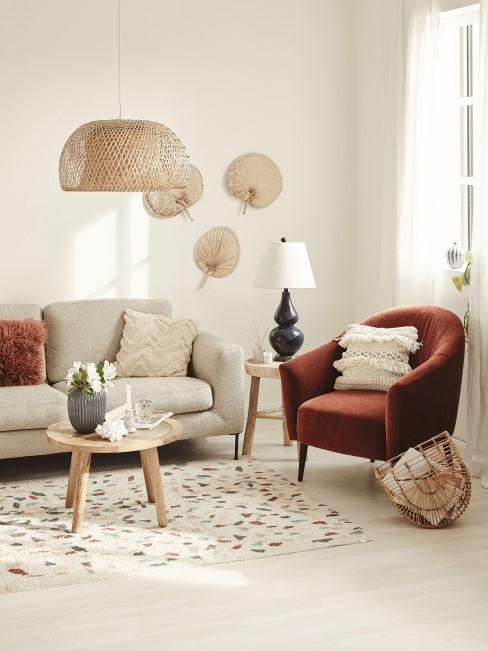 Terracotta für den Sessel