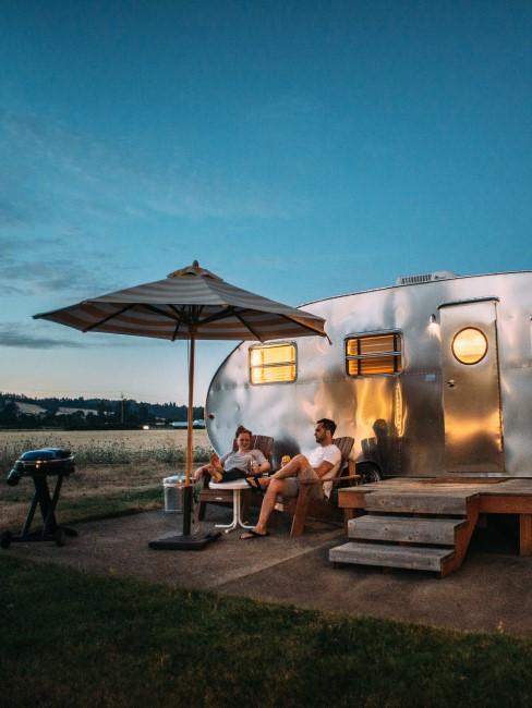 Camping Style Mobile Home auf dem Stellplatz