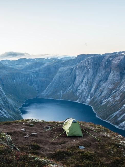 Camping Style Wildcampen mit Zelt