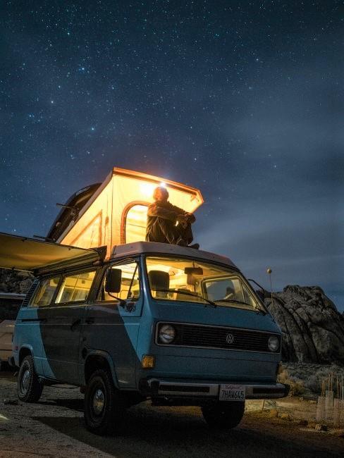 Camping mit dem VW-Bus