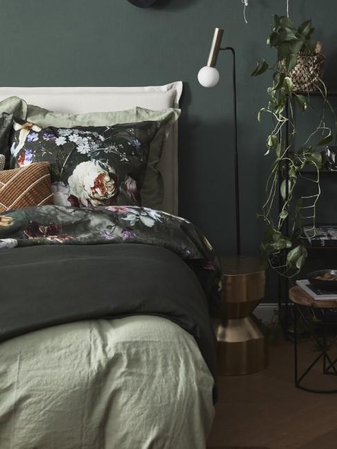 Grüntöne im Schlafzimmer