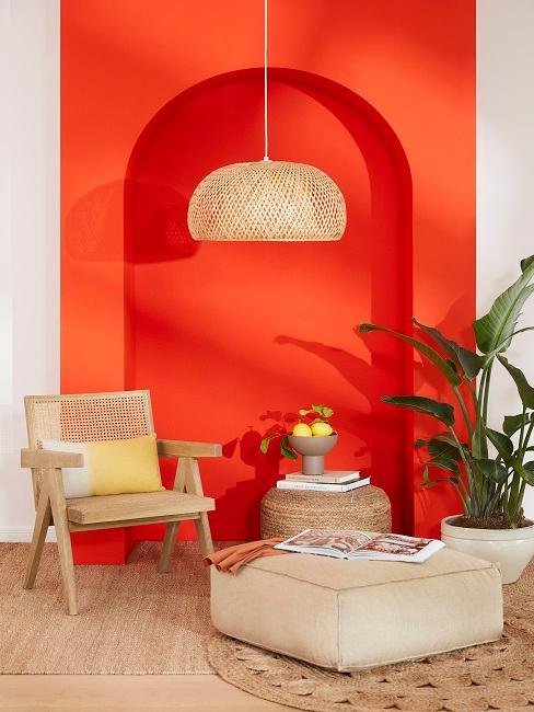Wohnzimmer mit kräftigen Farben