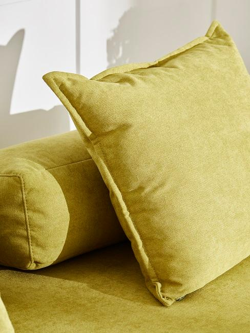 Wohnzimmer in Gelb und Grün