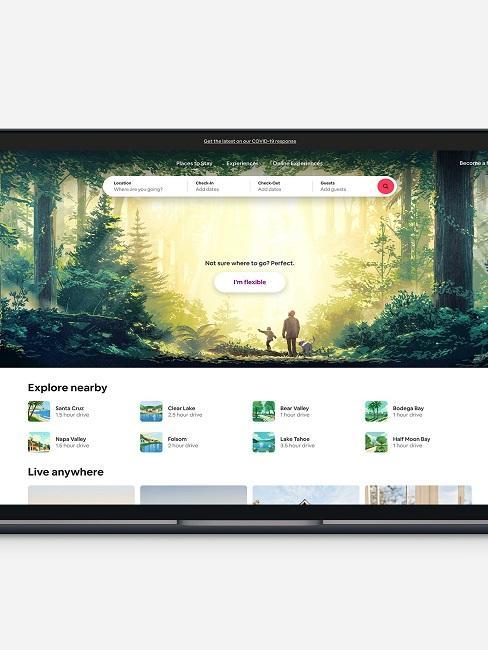 Wohnung untervermieten Airbnb Homepage