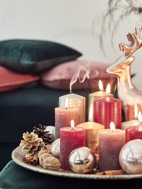 Weihnachtliche Deko fürs Wohnzimmer