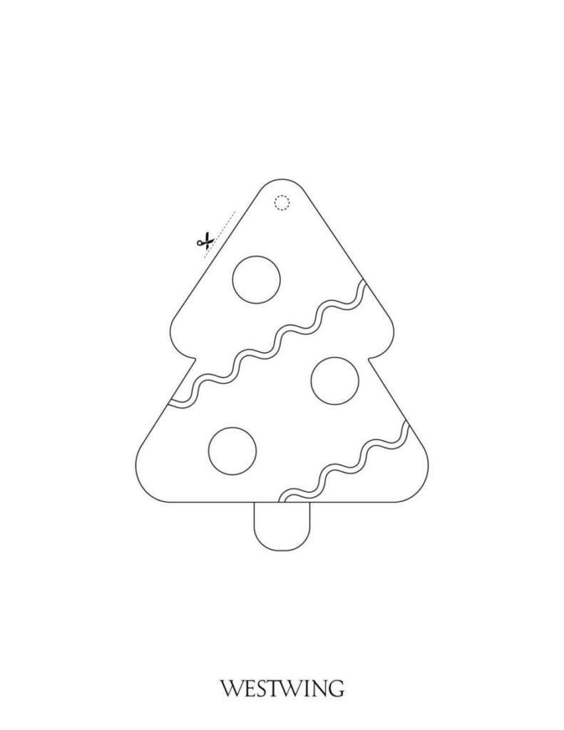 Malvorlage für Kinder an Weihnachten Tannenbaum
