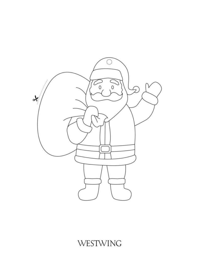 Malvorlage für Kinder an Weihnachten Nikolaus