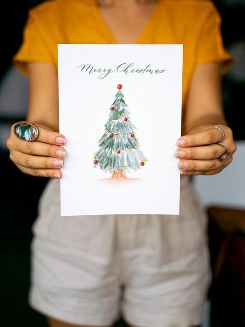 Tannenbaum malen für Weihnachten