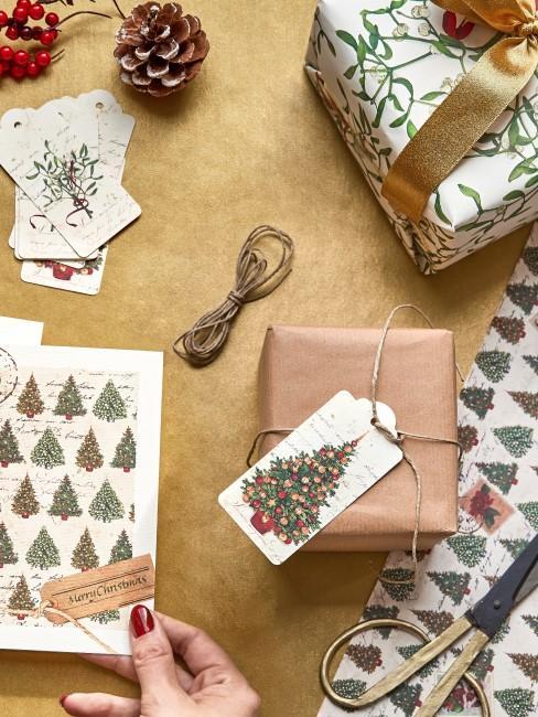 Weihnachtskarte basteln mit Kindern