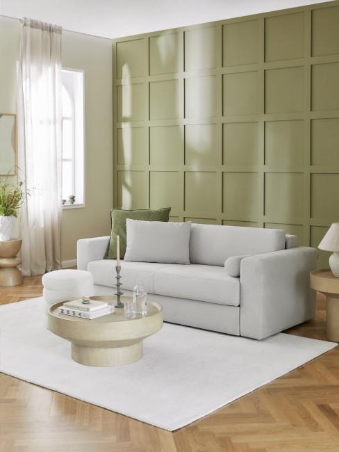 Wandfarbe Grün im Wohnzimmer