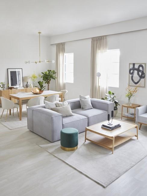 Schönes Wohnzimmer mit Essbereich