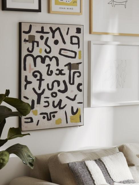 Ideen für die Wandgestaltung im Wohnzimmer